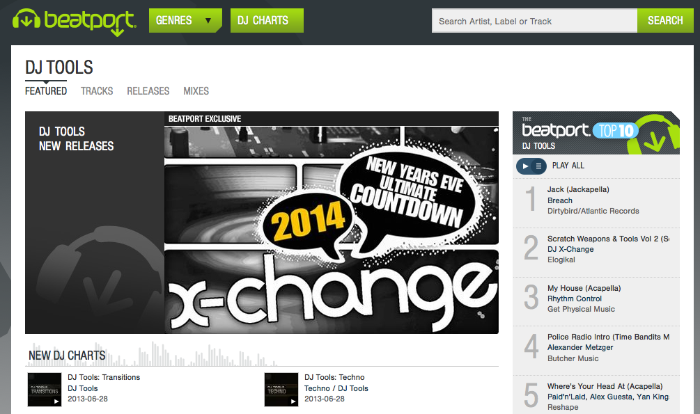 X-Change Music Beatport Exclusive New Years Eve 2014 Countdown