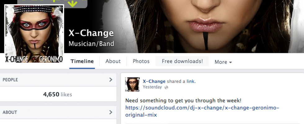 X-Change Music Facebook