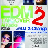 EDM Takeover 2 at Kaziks with DJ X-Change